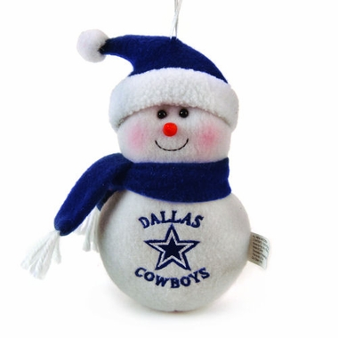 Dallas Cowboys Plush Snowman Ornament (Set of 3)