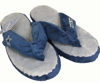 Dallas Cowboys Plush Thong Slippers