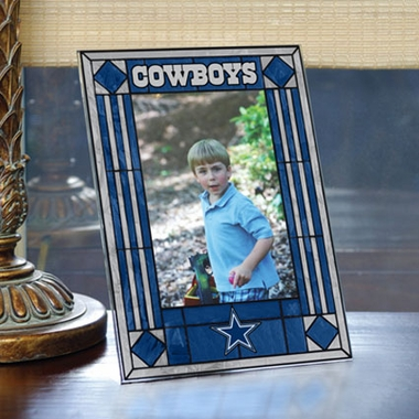 Dallas Cowboys Portrait Art Glass Picture Frame