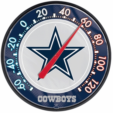 Dallas Cowboys Round Wall Thermometer