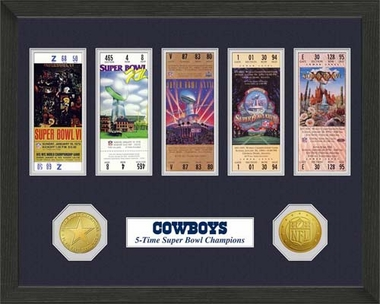 Dallas Cowboys Dallas Cowboys SB Championship Ticket Collection