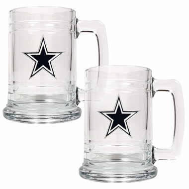 Dallas Cowboys Set of 2 15 oz. Tankards