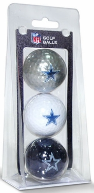Dallas Cowboys Set of 3 Multicolor Golf Balls
