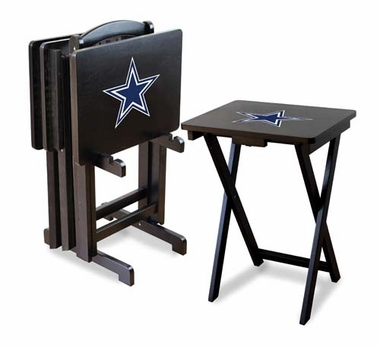 Dallas Cowboys Set of 4 Folding TV Trays