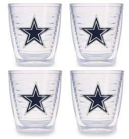 Dallas Cowboys Set of FOUR 12 oz. Tervis Tumblers