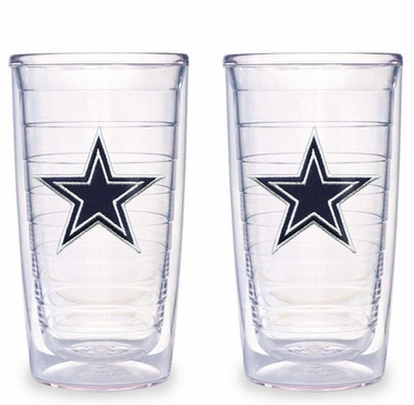 Dallas Cowboys Set of TWO 16 oz. Tervis Tumblers