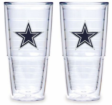 "Dallas Cowboys Set of TWO 24 oz. ""Big T"" Tervis Tumblers"
