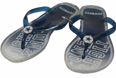 Dallas Cowboys Slogan Jelly Flip Flops