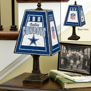 Dallas Cowboys Small Art Glass Lamp