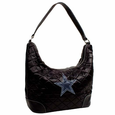 Dallas Cowboys Sport Noir Quilted Hobo