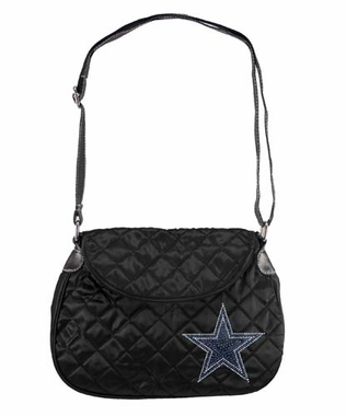 Dallas Cowboys Sport Noir Quilted Saddlebag
