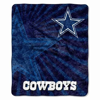 Dallas Cowboys Super-Soft Sherpa Blanket