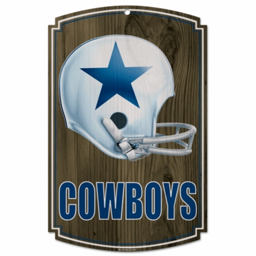 Dallas Cowboys Throwback Wood Sign
