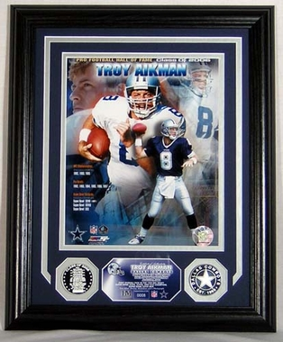 Dallas Cowboys Troy Aikman Hall Of Fame Induction Photomint
