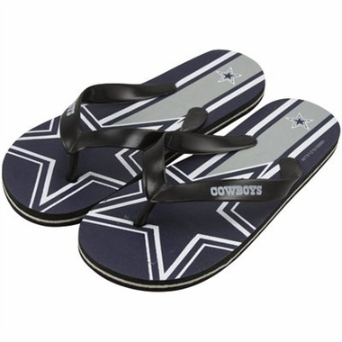 Dallas Cowboys Unisex Big Logo Flip Flops