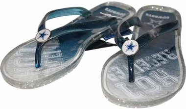 Dallas Cowboys Womens 2013 Slogan Jelly Flip Flop Slippers