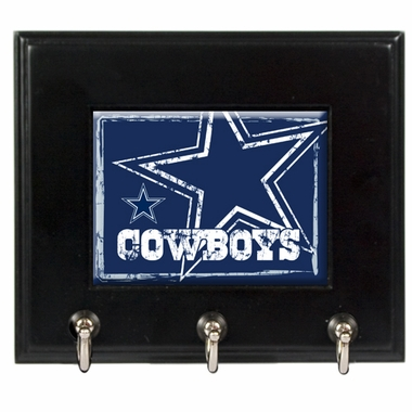 Dallas Cowboys Wooden Keyhook Rack