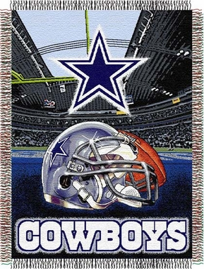 Dallas Cowboys Woven Tapestry Blanket