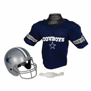 Dallas Cowboys Youth Helmet and Jersey Set