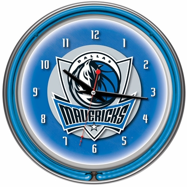 Dallas Mavericks 14 Inch Neon Clock