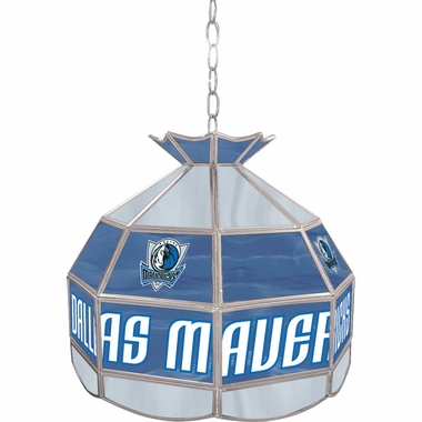 Dallas Mavericks 16 Inch Diameter Stained Glass Pub Light