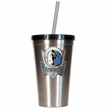 Dallas Mavericks 16oz Stainless Steel Insulated Tumbler with Straw