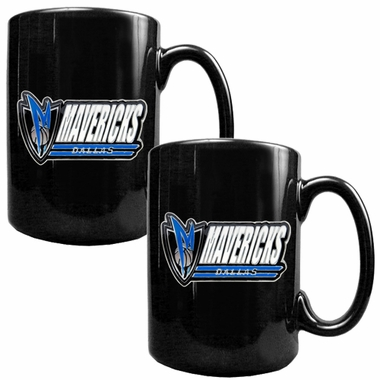 Dallas Mavericks 2 Piece Coffee Mug Set (Wordmark)