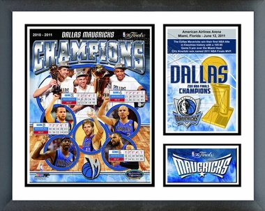 "Dallas Mavericks 2011 NBA Finals Champions Framed Milestones & Memories 11""x14"""