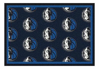 "Dallas Mavericks 5'4"" x 7'8"" Premium Pattern Rug"