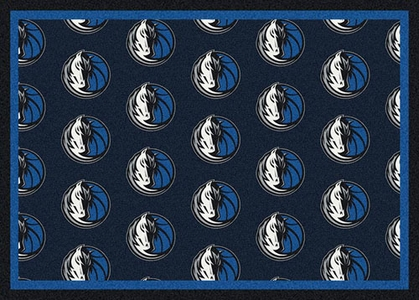 "Dallas Mavericks 7'8 x 10'9"" Premium Pattern Rug"