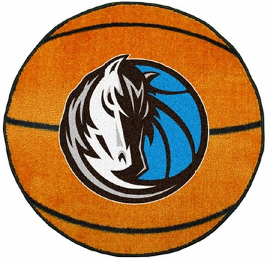 Dallas Mavericks Basketball Shaped Rug