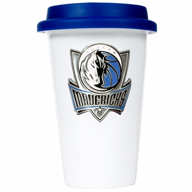 Dallas Mavericks Ceramic Travel Cup (Team Color Lid)