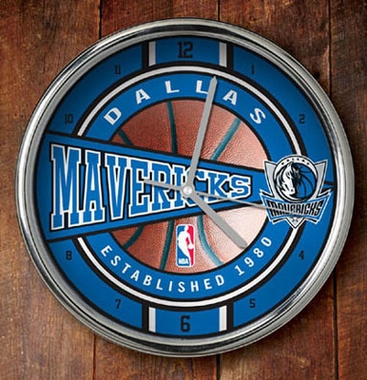 Dallas Mavericks Chrome Clock