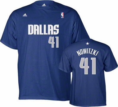 Dallas Mavericks Dikr Nowitzki YOUTH Player Name and Number T-Shirt