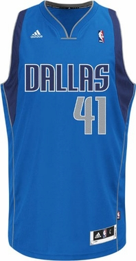 Dallas Mavericks Dirk Nowitzki Adidas NBA Revolution 30 Swingman Jersey - Blue