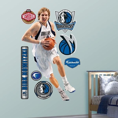 Dallas Mavericks Dirk Nowitzki Fathead Wall Graphic