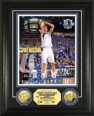 Dallas Mavericks Dirk Nowitzki Gold Coin Photo Mint