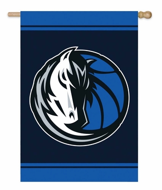 Dallas Mavericks Double Sided Applique Flag