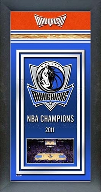 Dallas Mavericks Framed Championship Banner -