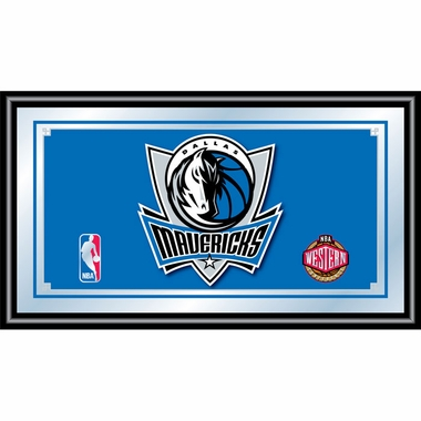 Dallas Mavericks Framed Logo Bar Mirror