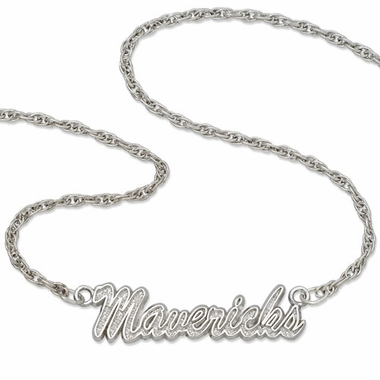 Dallas Mavericks Script Necklace