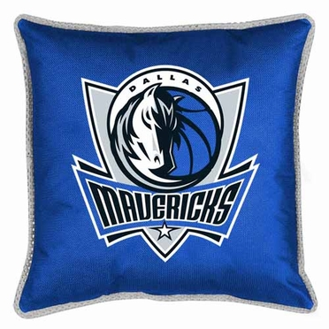 Dallas Mavericks SIDELINES Jersey Material Toss Pillow