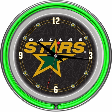 Dallas Stars 14 Inch Neon Clock