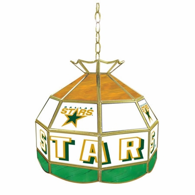 Dallas Stars 16 Inch Diameter Stained Glass Pub Light