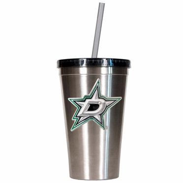 Dallas Stars 16oz Stainless Steel Insulated Tumbler with Straw
