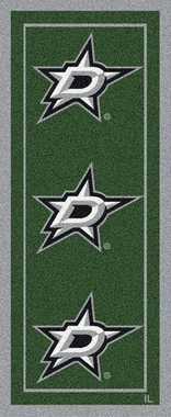 "Dallas Stars 2'1"" x 7'8"" Premium Runner Rug"