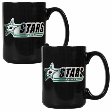 Dallas Stars 2 Piece Coffee Mug Set (Wordmark)
