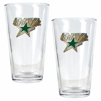 Dallas Stars 2 Piece Pint Glass Set