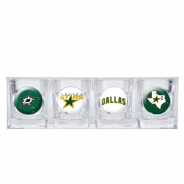 Dallas Stars 4 Piece Assorted Shot Glass Set