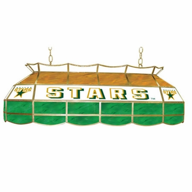 Dallas Stars 40 Inch Rectangular Stained Glass Billiard Light